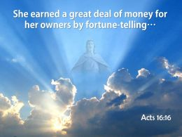 0514 Acts 1616 She Earned A Great Deal Powerpoint Church Sermon