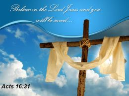 0514 Acts 1631 Believe in the Lord PowerPoint Church Sermon