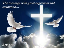 0514 Acts 1711 The Message With Great Eagerness Powerpoint Church Sermon