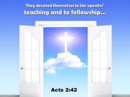 0514 Acts 242 They Devoted Themselves To The Apostles Teaching Power Powerpoint Church Sermon