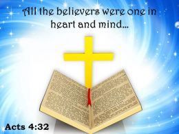 0514 Acts 432 All The Believers Were One Powerpoint Church Sermon