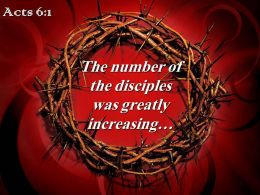0514 Acts 61 The Number Of The Disciples Powerpoint Church Sermon