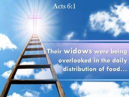 0514 Acts 61 Their Widows Were Being Overlooked Powerpoint Church Sermon