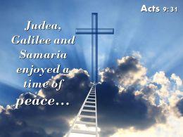 0514 Acts 931 Judea Galilee And Samaria Enjoyed PowerPoint Church Sermon