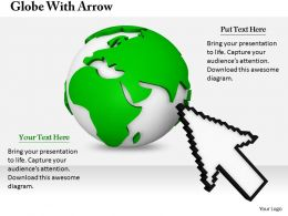 0514 Arrow Pointing On Globe Image Graphics For Powerpoint