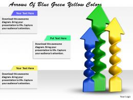 0514 Arrows Of Blue Green Yellow Colors Image Graphics For Powerpoint
