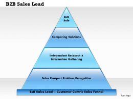 0514 B2B Sales Lead Powerpoint Presentation