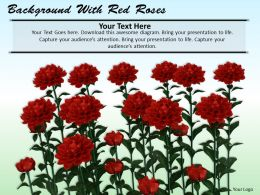 0514 background with red roses Image Graphics for PowerPoint