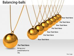 0514 Balancing Balls Business Image Graphics For Powerpoint