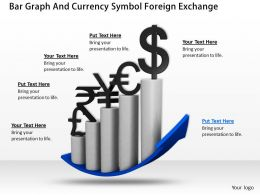0514 Bar Graph And Currency Symbol Foreign Exchange Image Graphics For Powerpoint 1
