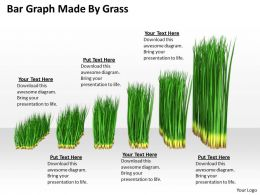 0514 Bar Graph Made By Grass Image Graphics For Powerpoint