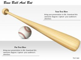 0514 Baseball And Bat Sports Theme Image Graphics For Powerpoint