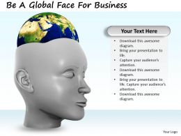 0514 Be A Global Face For Business Image Graphics For Powerpoint
