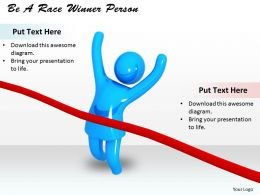0514 Be A Race Winner Person Image Graphics For Powerpoint