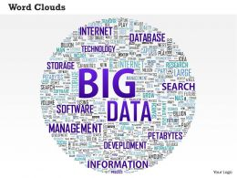 0514 Big Data Word Cloud Powerpoint Slide Template