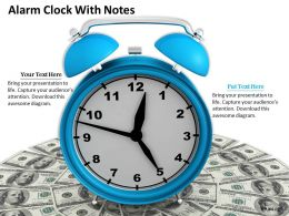 0514 Blue Color Alarm Clock Image Graphics For Powerpoint