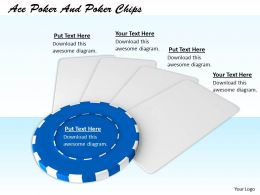 0514 Blue Poker Chips Image Graphics For Powerpoint