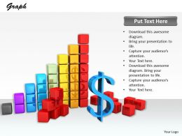 0514 Build New Financial Bar Graph Image Graphics For Powerpoint 1