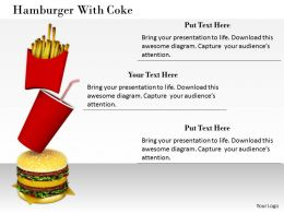 0514 Burger With Coke Graphic Image Graphics For Powerpoint