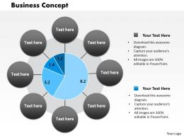 0514 Business Concept Data Driven Display Diagram Powerpoint Slides