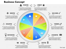 0514 Business Concept Data Driven Display For Sales Powerpoint Slides