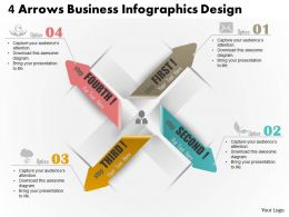 0514 Business Consulting Diagram 4 Arrows Business InfoGraphics Design Powerpoint Slide Template