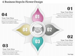 0514 Business Consulting Diagram 4 Business Steps In Flower Design Powerpoint Slide Template