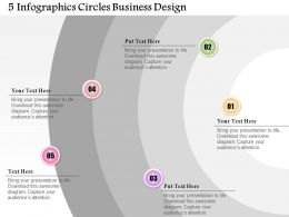 0514 Business Consulting Diagram 5 InfoGraphics Circles Business Design Powerpoint Slide Template