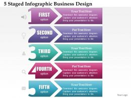 0514 Business Consulting Diagram 5 Staged InfoGraphic Business Design Powerpoint Slide Template
