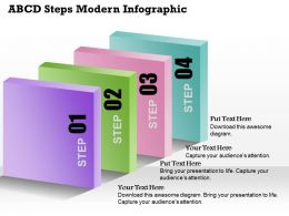 0514 Business Consulting Diagram ABCD Steps Modern InfoGraphic Powerpoint Slide Template