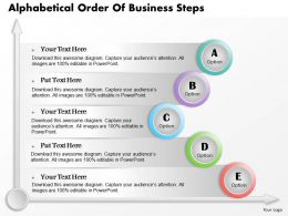 0514 Business Consulting Diagram Alphabetical Order Of Business Steps Powerpoint Slide Template