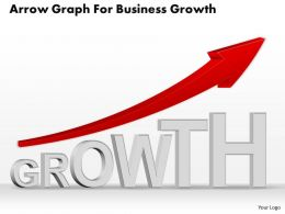 0514 Business Consulting Diagram Arrow Graph For Business Growth Powerpoint Slide Template