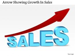 0514 Business Consulting Diagram Arrow Showing Growth In Sales PowerPoint Slide Template