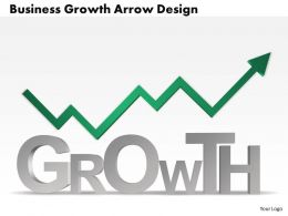 0514 Business Consulting Diagram Business Growth Arrow Design PowerPoint Slide Template