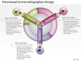 0514 Business Consulting Diagram Directional Arrows Infographics Design PowerPoint Slide Template
