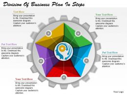 0514 Business Consulting Diagram Division Of Business Plan In Steps PowerPoint Slide Template