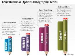 0514 Business Consulting Diagram Four Business Options Infographic Icons PowerPoint Slide Template