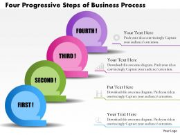 0514 Business Consulting Diagram Four Progressive Steps Of Business Process PowerPoint Slide Template