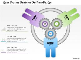 0514 Business Consulting Diagram Gear Process Business Options Design PowerPoint Slide Template