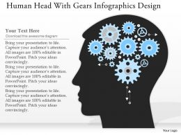0514 Business Consulting Diagram Human Head With Gears Infographics Design PowerPoint Slide Template