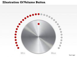 0514 Business Consulting Diagram Illustration Of Volume Button Powerpoint Slide Template