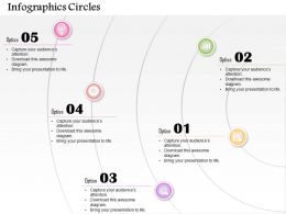 0514 Business Consulting Diagram Infographic Design With Five Circles PowerPoint Slide Template