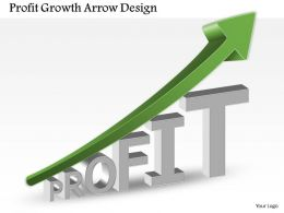 0514 Business Consulting Diagram Profit Growth Arrow Design PowerPoint Slide Template