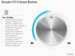 0514 Business Consulting Diagram Render Of Volume Button Powerpoint Slide Template