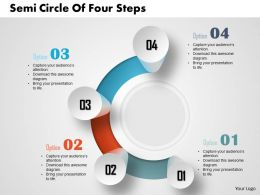 0514 Business Consulting Diagram Semi Circle Of Four Steps PowerPoint Slide Template