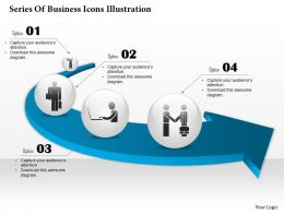 0514 Business Consulting Diagram Series Of Business Icons Illustration PowerPoint Slide Template