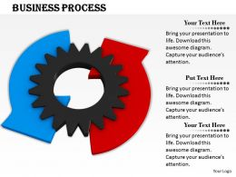 0514 Business Gear With Two Arrows Image Graphics For Powerpoint