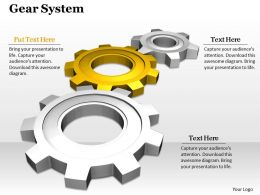0514 Business Gears Process Illustration Image Graphics For Powerpoint