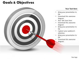 0514 Business Goals Display Target Dart Diagram