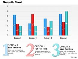 0514 Business Growth Chart For Finance Powerpoint Slides